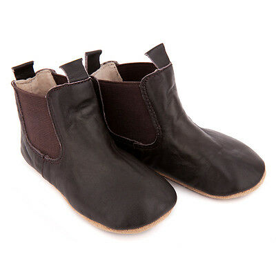 NEW Pre-walker leather riding boots in chocolate brown by SKEANIE