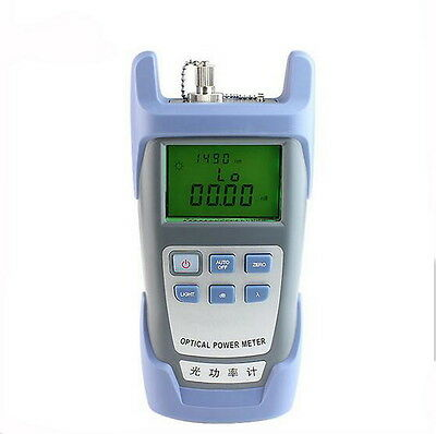Portable Adjustable Fiber Optic Optical Power Meter Cable Tester Network SC/FC #