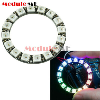 RGB LED Ring 16Bit WS2812 5050 RGB LED +Integrated Drivers For Arduino Module