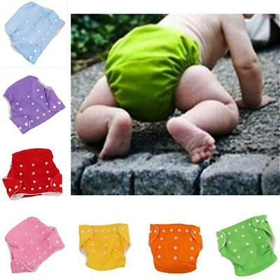 Kids Infant Baby Toddler Adjustable Soft Reusable Cloth Diaper Nappy Cover FW