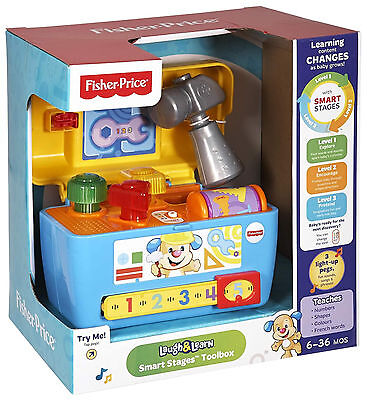 Fisher Price Laugh & Learn Smart Stages Toolbox Interactive Toy Age 6-36 months
