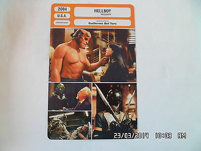 CARTE FICHE CINEMA 2004 HELLBOY Ron Perlman John Hurt Selma Blair