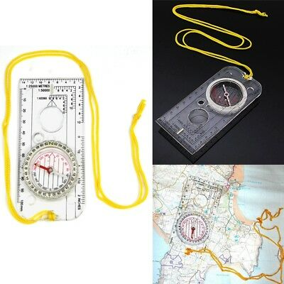 Magnifying Compass Army Scouts Camping Hiking Boating Map Orienteering Reading