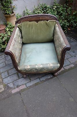 Early 20th century antique Armchair/ Bergere for Restoration (304E) • £80.00