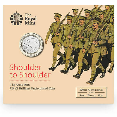 The Royal Mint Army 2016 UK £2 Brilliant Uncirculated Coin - UK16W1BU