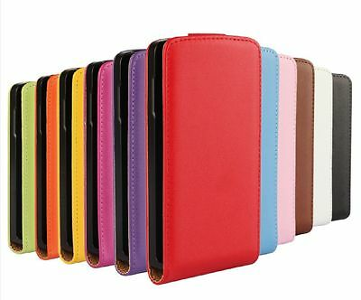 Genuine leather Flip Case Cover Open up For LG Optimus F60 MS395 D390 D392 D390N