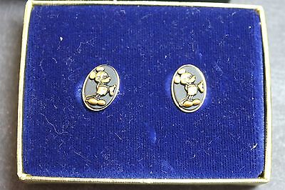 NOS Vintage Walt Disney Productions Mickey Mouse Earrings Jewelry