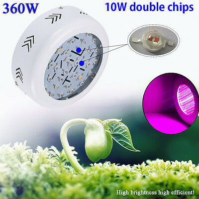360W UFO LED Grow Light Lamp for Plants Hydroponic Tent Growth Box Full Spectrum
