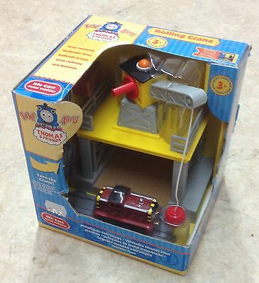 Thomas & Friends Diecast Train Take Along N Play Yellow Rolling Crane with Salty