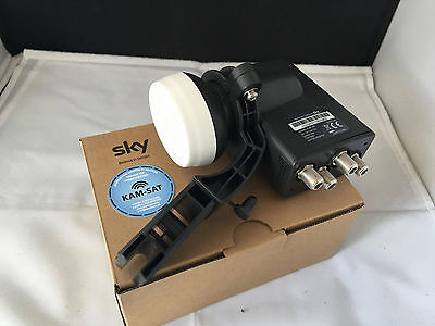 Satellite QUAD LNB 4 WAY ZONE 2 WITH OLD BRACKET ADAPTER FOR SKY+ ASTRA