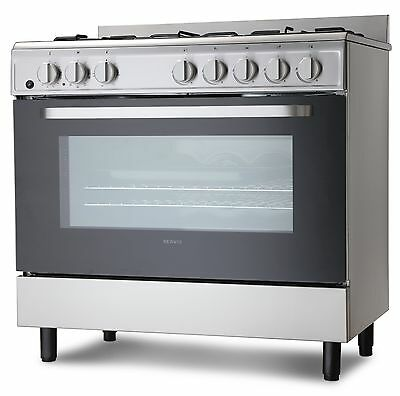 Servis SD900X Stainless Steel 90cm Dual Fuel Range Cooker | Large Single Oven