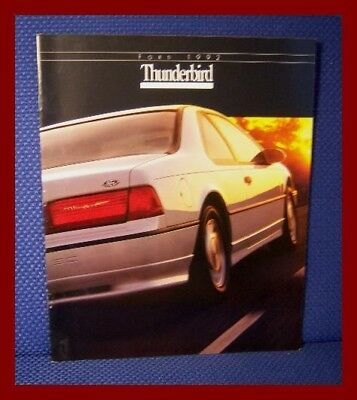 1992 Ford THUNDERBIRD Automobile Color Sales Brochure