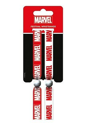 MARVEL COMICS Marvel (Logo) Pack Of 2 Fabric Festival Wristbands FWR68067