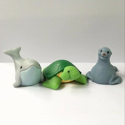 3 Fisher-Price Little People Zoo Talkers Seals Dolphin turtle Animal (no sound)