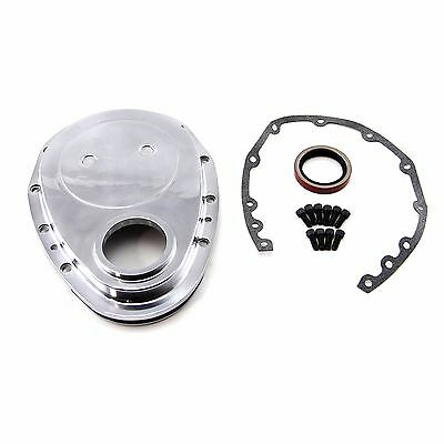SBC Aluminum Timing Cover Set 350 383 Small Block Polished Aluminum With gaskets