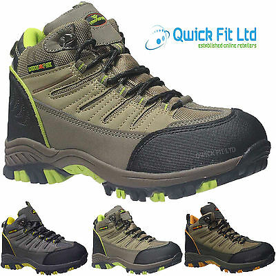 Mens Quality Hiking Boots Walking Ankle Hi Tops Trail Trekking Trainers Shoes Sz