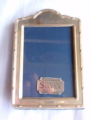 Small Solid Silver Front Sterling 925 Sheffield 1993 R Carrs Domed Photo Frame