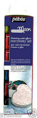 PEBEO FANTASY MOON DISCOVERY SET 6 X 20 ml MULTI SURFACE CRAFT PAINT- PEBEO