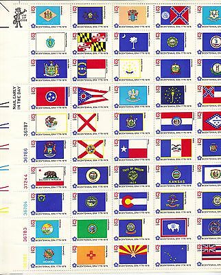 USA-United States 1976 13c Postage Flags Sheet [Choose] Scot 1633-82 MNH