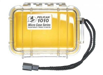 Pelican 1010 Micro Dry Case with Clear Lid - Yellow
