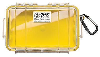 Pelican 1040 Dry Case /Snorkelers/Kayakers - Yellow w/ clear end