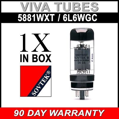 Brand New In Box Sovtek 5881WXT / 6L6WC Vacuum Tube - New Stock NOT B-Stock