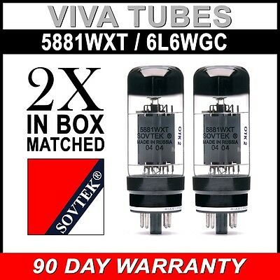 Brand New In Box Plate Current Matched Pair Sovtek 5881WXT / 6L6WC Vacuum Tubes