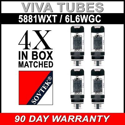 Brand New In Box Plate Current Matched Quad Sovtek 5881WXT / 6L6WC Vacuum Tubes