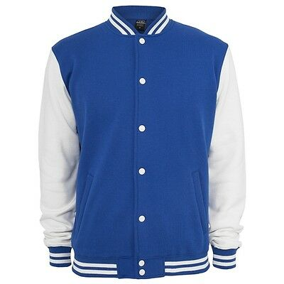 Retro College Jacken Urban Classic in Royalblau - Uni Jacke