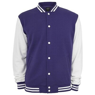 Retro College Jacken Urban Classic in Purple - Uni Jacke