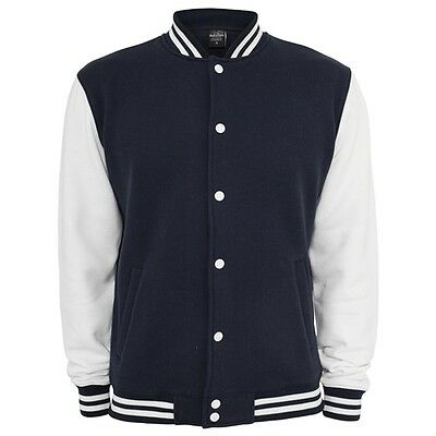 Retro College Jacken Urban Classic in Dunkelblau - Uni Jacke