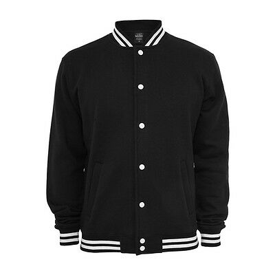 Retro College Jacken Urban Classic in Full Black - Uni Jacke