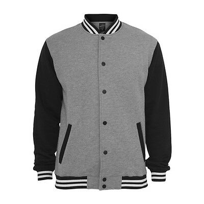 Retro College Jacken Urban Classic in Gray/Black - Uni Jacke