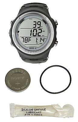 Oceanic Geo 2.0 Wrist Watch Computer - White w/ Extra Battery Kit Included