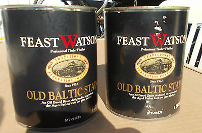 Feast Watson OLD BALTIC STAIN 2 X 1 Litre cans Pick up only Rooty Hill nsw 2766