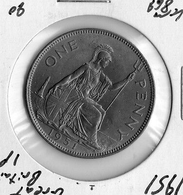 1951 Great Britain 1p nice collector grade world coin