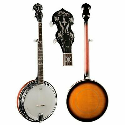 Washburn B16 5-string Bluegrass Banjo Maple Resonator Bell Brass Tone Ring