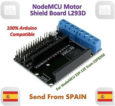 NodeMCU Motor Shield Board L293D for ESP-12E from ESP8266 esp 12E for Arduino