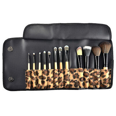 Set 12 Pinceaux Maquillage Cosmetique Brush Fard Ombre Paupiere Blush Trousse