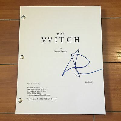 ANYA TAYLOR JOY SIGNED THE WITCH FULL MOVIE SCRIPT w/EXACT PROOF