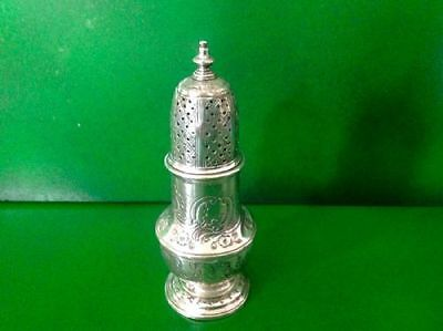 Samuel Wood 1743 Georgian Antique English Sterling Silver Sugar Caster Shaker