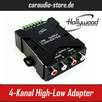Hollywood HLC4 High-Low Adapter / Converter 4-Kanal 4 x 50 Watt max Auto-Hifi