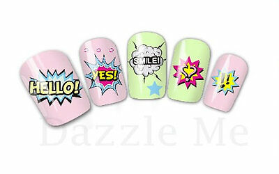 Nail Art Sticker Water Decals Transfer Stickers Hearts Smile Love (DX1575)