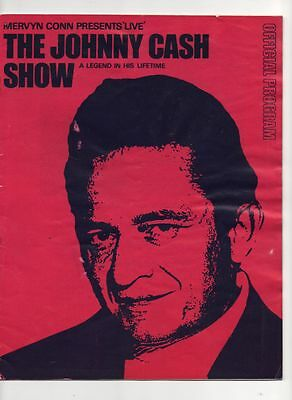 1963 Johnny Cash show official programme fine condition by Mervyn CONN