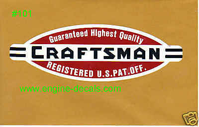 """Craftsman Tool box LARGE 8 3/4"""" vintage 40's style decal"""