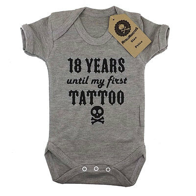 Metallimonsters first tattoo vest grey alternative baby clothes rock punk metal