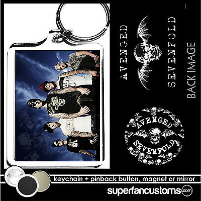 Avenged Sevenfold  KEYCHAIN + BUTTON or MAGNET or MIRROR pin the key ring #1659