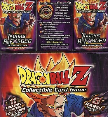 Dragonball Z CCG TCG Trunks Reforged Sealed Theme Deck  Box of 12  Score 2002