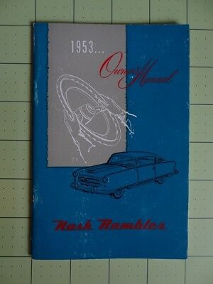 1953 NASH Rambler Automobile Glovebox Owners Manual
