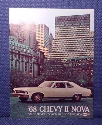 1968 Chevrolet NOVA Color Sales Brochure - Coupe + SS ORIGINAL New Old Stock